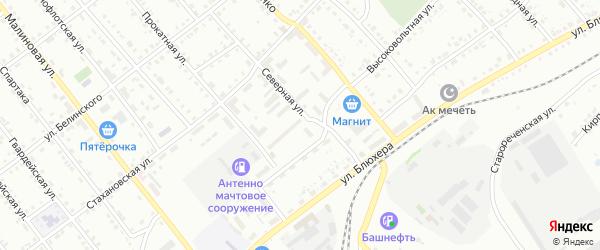 Челябинская улица на карте Белорецка с номерами домов
