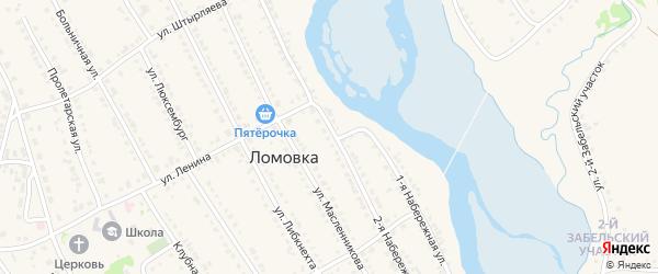 Волжская улица на карте села Ломовка с номерами домов
