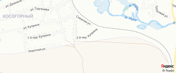 Куприна 2-й переулок на карте Белорецка с номерами домов