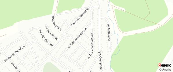 Сосновый 3-й переулок на карте Белорецка с номерами домов