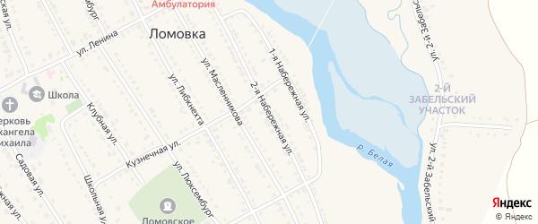 2 Набережная улица на карте села Ломовка с номерами домов