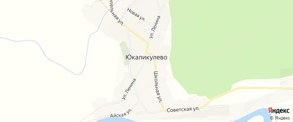 Карта деревни Юкаликулево в Башкортостане с улицами и номерами домов