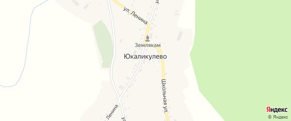 Улица Галиаскара на карте деревни Юкаликулево с номерами домов