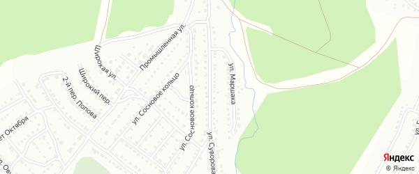 Улица Суворова на карте Белорецка с номерами домов