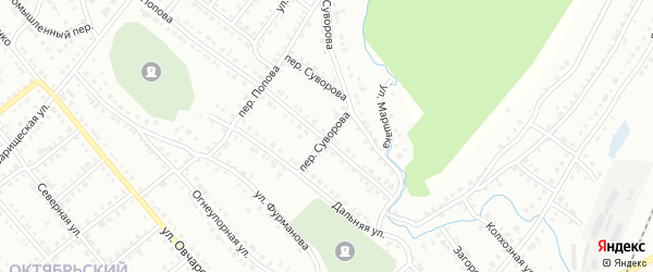 Переулок Суворова на карте Белорецка с номерами домов