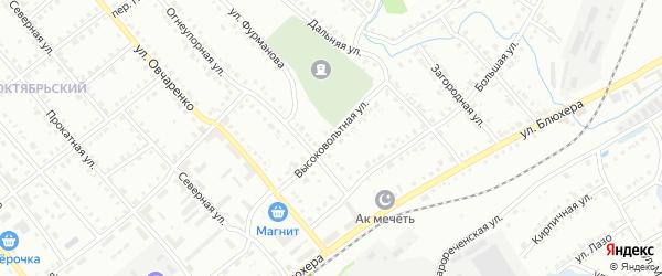 Высоковольтная улица на карте Белорецка с номерами домов