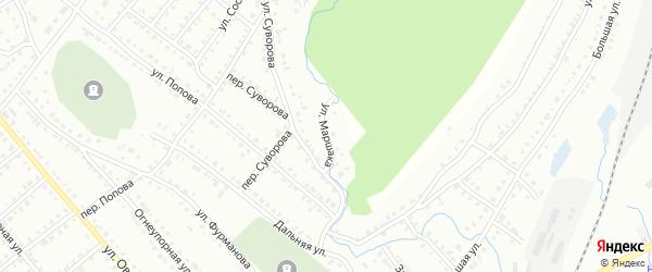 Улица Маршака на карте Белорецка с номерами домов