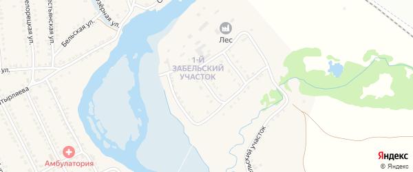 Улица 1 Забельский участок на карте села Ломовка с номерами домов