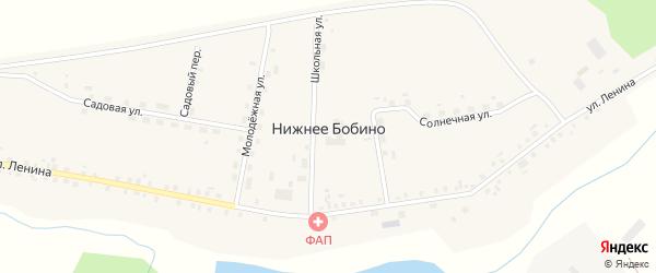 Садовая улица на карте села Нижнее Бобино с номерами домов