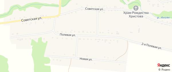 Полевая улица на карте села Рухтино с номерами домов