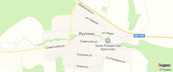 Карта села Рухтино в Башкортостане с улицами и номерами домов