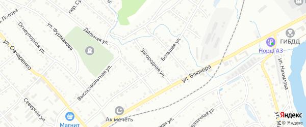 Загородная улица на карте Белорецка с номерами домов