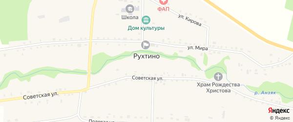 Улица Мира на карте села Рухтино с номерами домов