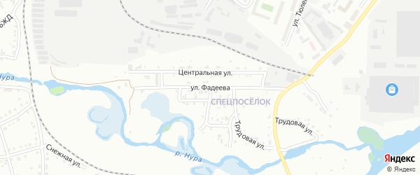 Улица Фадеева на карте Белорецка с номерами домов