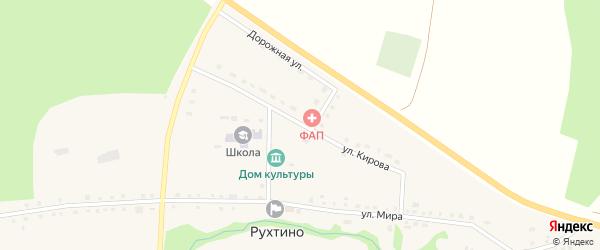 Улица Кирова на карте села Рухтино с номерами домов