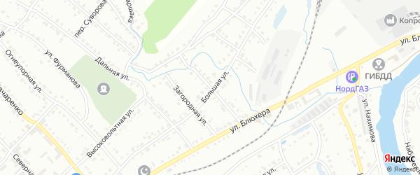 Колхозная улица на карте Белорецка с номерами домов