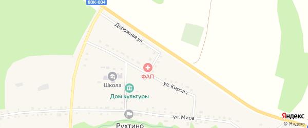 Больничный переулок на карте села Рухтино с номерами домов