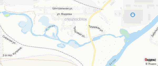 Трудовая улица на карте Белорецка с номерами домов