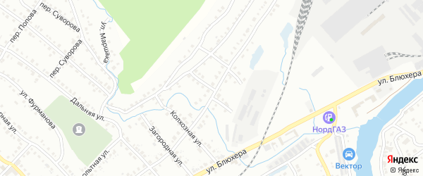 Большой переулок на карте Белорецка с номерами домов