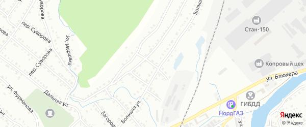 Поперечная улица на карте Белорецка с номерами домов