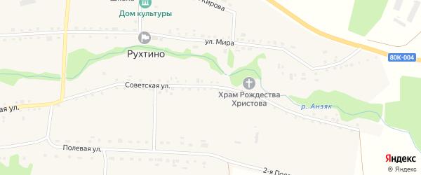 Советская улица на карте села Рухтино с номерами домов