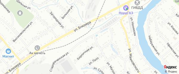 Старореченская улица на карте Белорецка с номерами домов