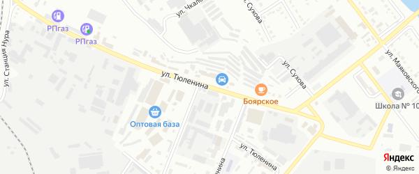 Улица Тюленина на карте Белорецка с номерами домов