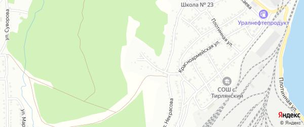 Переулок Некрасова на карте Белорецка с номерами домов