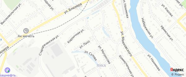 Улица Лазо на карте Белорецка с номерами домов