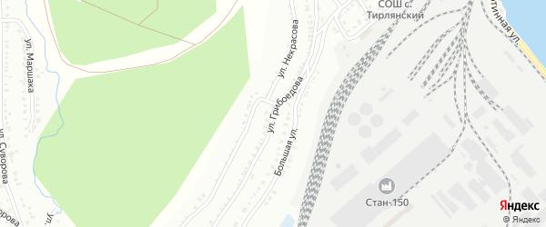 Улица Грибоедова на карте Белорецка с номерами домов