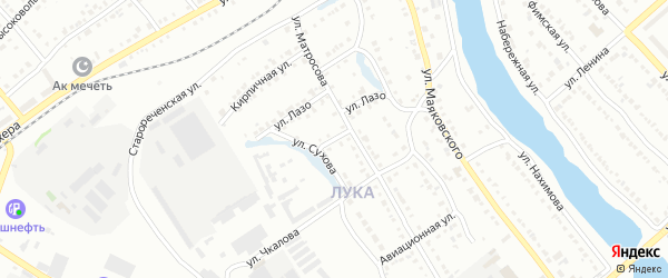 Улица Портсмана на карте Белорецка с номерами домов