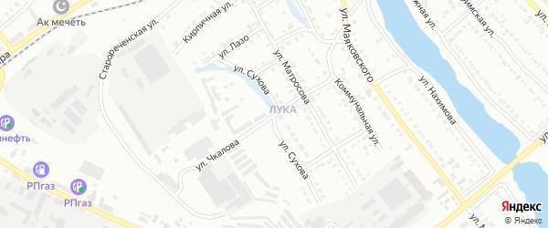 Улица Чкалова на карте Белорецка с номерами домов