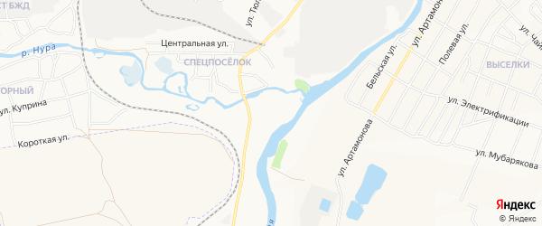 СНТ Белорецкого УПП ВОГ на карте сада УППА ВОГА с номерами домов