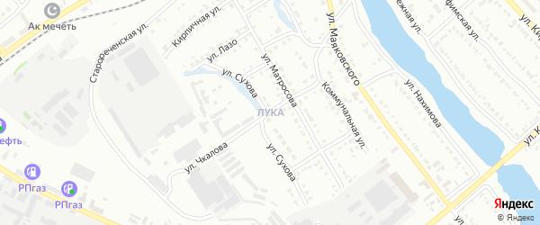Участок Лука на карте Белорецка с номерами домов