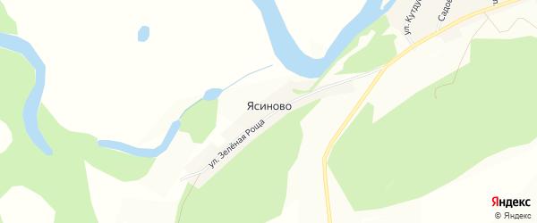 Карта деревни Ясиново в Башкортостане с улицами и номерами домов