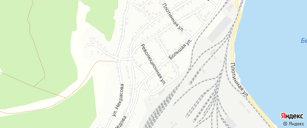 Революционная улица на карте Белорецка с номерами домов