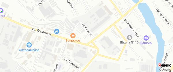 Улица Громовой на карте Белорецка с номерами домов