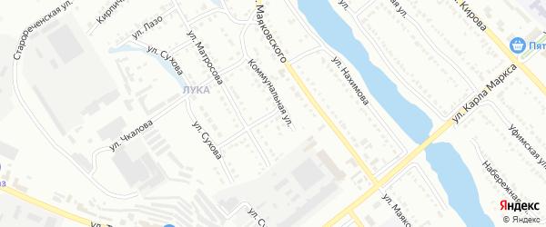 Авиационная улица на карте Белорецка с номерами домов