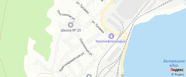 Рябовский переулок на карте Белорецка с номерами домов