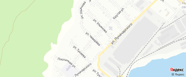 Улица Чеверева на карте Белорецка с номерами домов