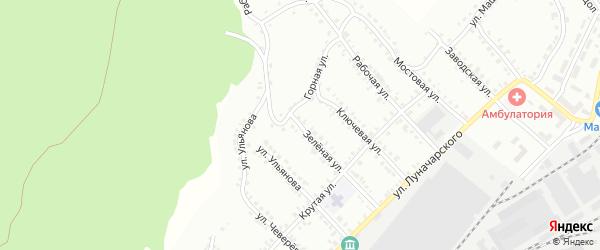Зелёная улица на карте Белорецка с номерами домов