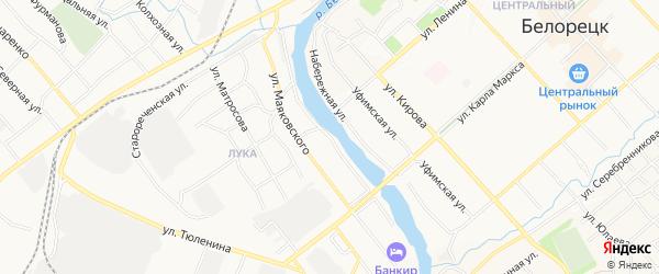Берег Белой ГСК на карте улицы Нахимова с номерами домов