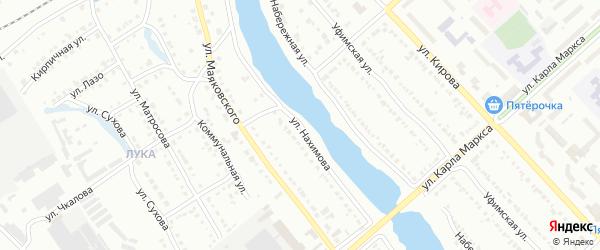 Улица Нахимова на карте Белорецка с номерами домов