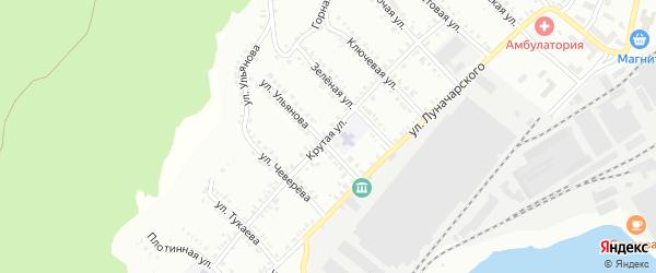 Крутая улица на карте Белорецка с номерами домов