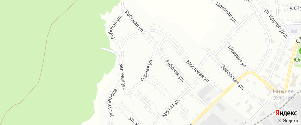 Горная улица на карте Белорецка с номерами домов