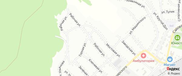Рабочая улица на карте Белорецка с номерами домов