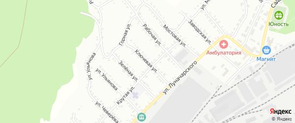 Ключевая улица на карте Белорецка с номерами домов