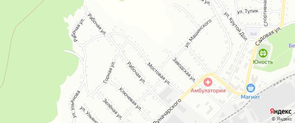 Мостовая улица на карте Белорецка с номерами домов