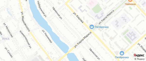 Уфимская улица на карте Белорецка с номерами домов