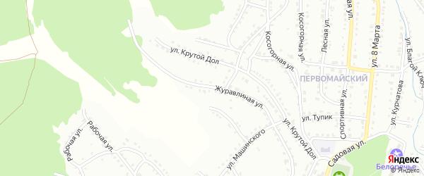 Журавлиная улица на карте Белорецка с номерами домов